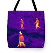 Thermogram Of People Walking Tote Bag