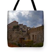 They Walk The Wall In Dubrovnik Tote Bag