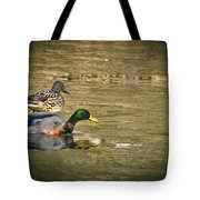 Thin Ice Wet Duck Tote Bag