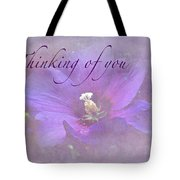 Thinking Of You Greeting Card - Rose Of Sharon Tote Bag