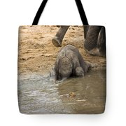 Thirsty Young Elephant Tote Bag
