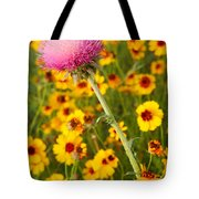 Thistle And Coreopsis 2am-110455 Tote Bag