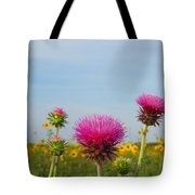 Thistle And Sunflower 2am-110468 Tote Bag