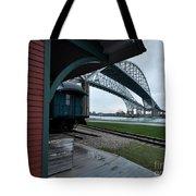 Thomas Edison Depot And Blue Water Bridges 2012 Tote Bag