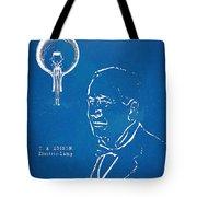 Thomas Edison Lightbulb Patent Artwork Tote Bag