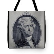 Thomas Jefferson 2 Dollar Bill Portrait Tote Bag