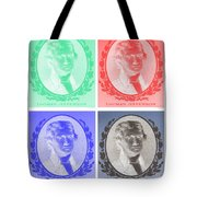 Thomas Jefferson In Negative Colors Tote Bag