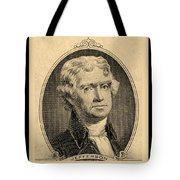 Thomas Jefferson In Sepia Tote Bag