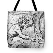 Thomas Paine Caricature Tote Bag by Photo Researchers