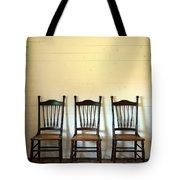 Three Antique Chairs Tote Bag by Jill Battaglia