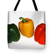 Three Bell Peppers Tote Bag