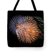 Three Bursts Of Fireworks Four July Two K Ten Tote Bag by Carl Deaville