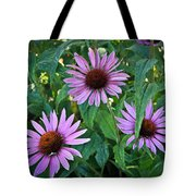 Three Coneflowers Tote Bag