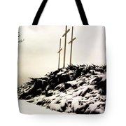 Three Crosses Tote Bag