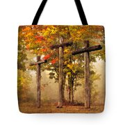 Three Crosses Tote Bag