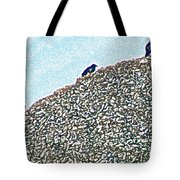 Three Crows And Oyster Shells Tote Bag