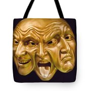 Three Faces Tote Bag
