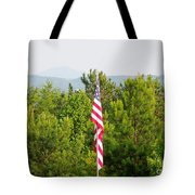 Three Flags And Kennesaw Mountain Tote Bag