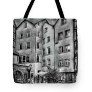 three homes in Black and White Tote Bag