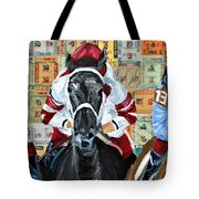 Three In The Lead Tote Bag