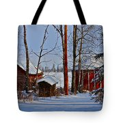 Three Little Houses Tote Bag
