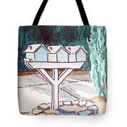 Three Mailboxes Sketchbook Project Down My Street Tote Bag by Irina Sztukowski