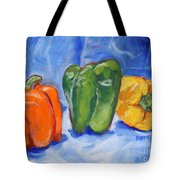 Three Peppers Tote Bag