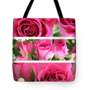 Three Pink Roses Landscape Tote Bag