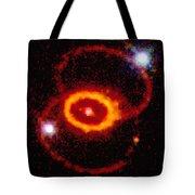 Three Rings Of Glowing Gas - Supernova Tote Bag