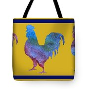 Three Roosters Tote Bag