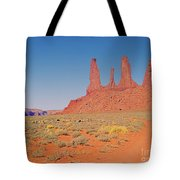 Three Sisters And Grazing Sheep Tote Bag