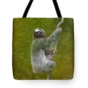 Three-toed Sloth Climbing Tote Bag by Heiko Koehrer-Wagner