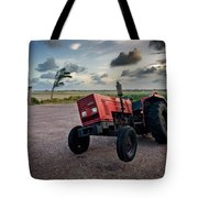 Three Wheeled Tractor Tote Bag