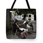 Three Women And The Man Tote Bag