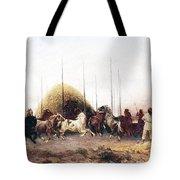 Threshing Wheat In New Mexico Tote Bag