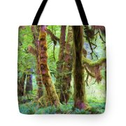 Through Moss Covered Trees Tote Bag