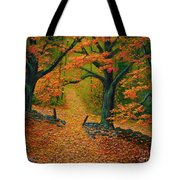 Through The Fallen Leaves II Tote Bag