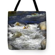 Through The Giant Boulders Tote Bag