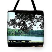 Through The Pavilion At Trap Pond State Park Delaware  Tote Bag