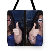 Thumbs Up - Gently Cross Your Eyes And Focus On The Middle Image Tote Bag