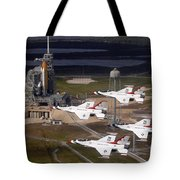 Thunderbirds Fly Past Endeavour Tote Bag