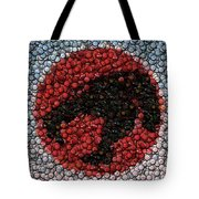 Thundercats Bottle Cap Mosaic Tote Bag by Paul Van Scott