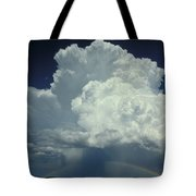 Thunderclouds And Rinbow Tote Bag