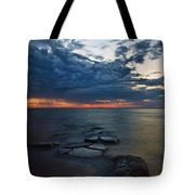 Thunderclouds On The Bay Tote Bag