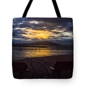 Thunderstorms At Sunrise Tote Bag