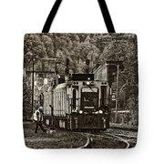 Thurmond Wv Train Sepia Tote Bag