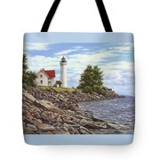 Tibbetts Point Lighthouse Tote Bag by Richard De Wolfe