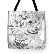 Tick Tack Toe With The Universe Tote Bag