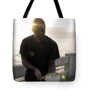 Tickling His Belly Tote Bag