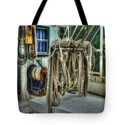 Tied Up Lines Tote Bag by Michael Thomas